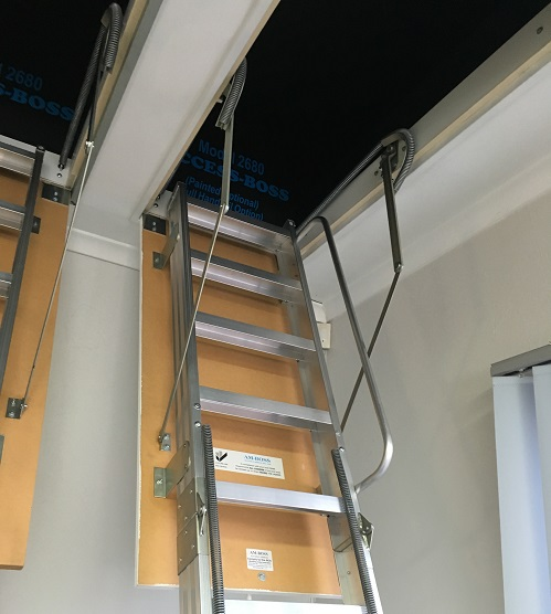 Domestic aluminum access ladder